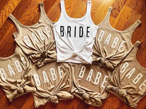 Bride|Babe Shirt