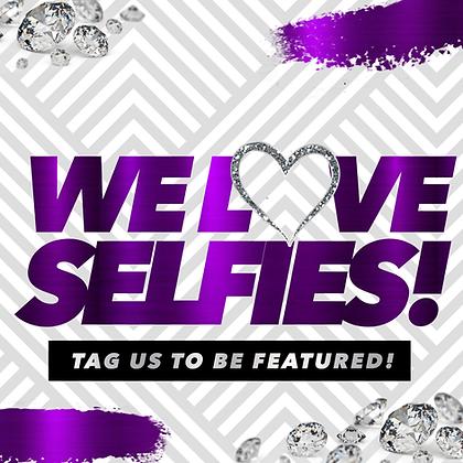 We Love Selfies (Purple)
