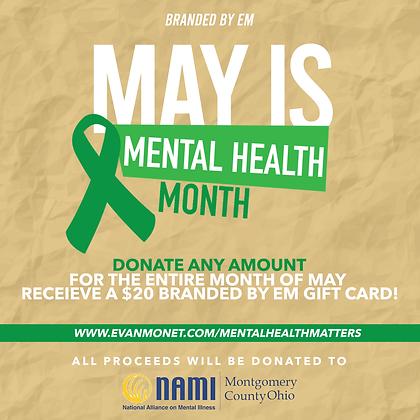 #MentalHealthMatters Donation
