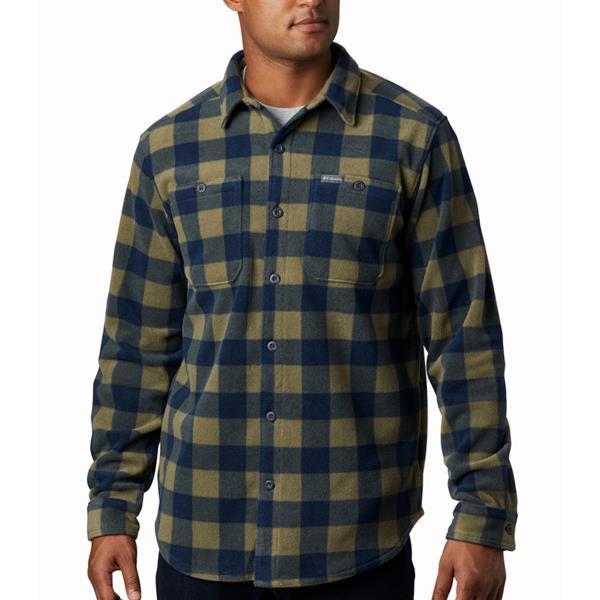 Flare gun flannel fleece overshirt