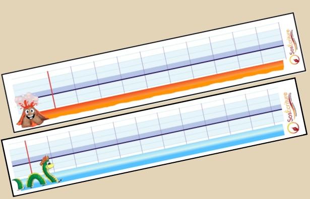ardoisettes Gurvan : outil d'écriture pour la main sous la ligne