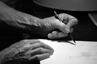 Les gauchers et l'écriture