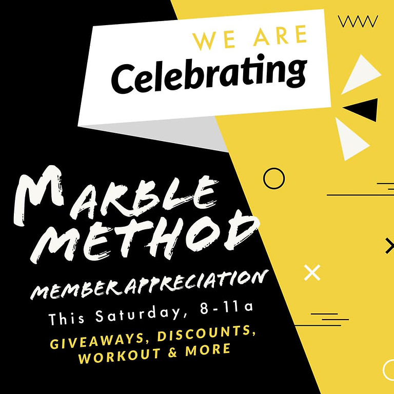 Member Appreciation Day at The Marble Method
