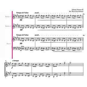 Image of Sheet Music for Violin