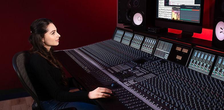 Esther abrami in recording studio