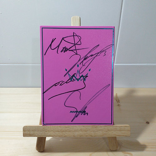 Mamamoo - 5th Mini Album Purple Autographed Signed Album