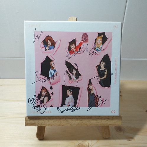 Twice - 2nd Mini Page Two Autographed Signed Album (Pink ver.)
