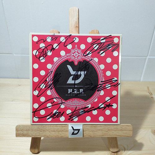 Block B - 4th Mini Album H.E.R Signed Album