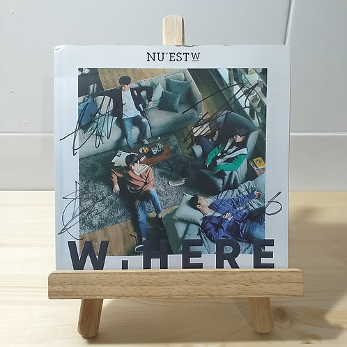 NUEST - W HERE Autographed Signed Promo Album