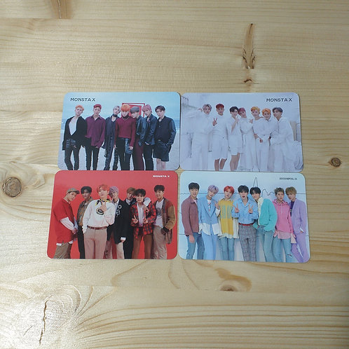 MONSTA X - Official Photocard (4 pcs set)