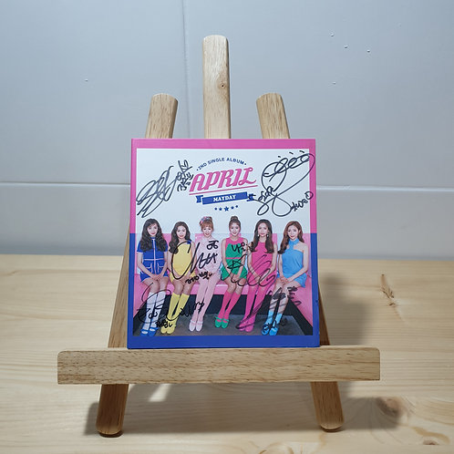 APRIL - MAYDAY 2nd Single Autographed Signed Album