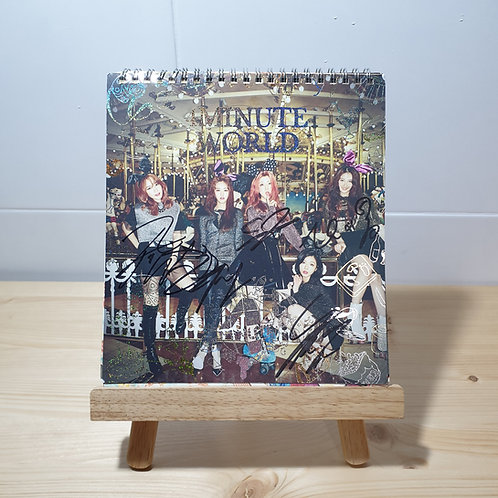 4MINUTE - 4MINUTE World Autographed Signed Album
