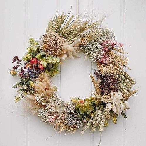 Fresh or Dried Flower Wreath