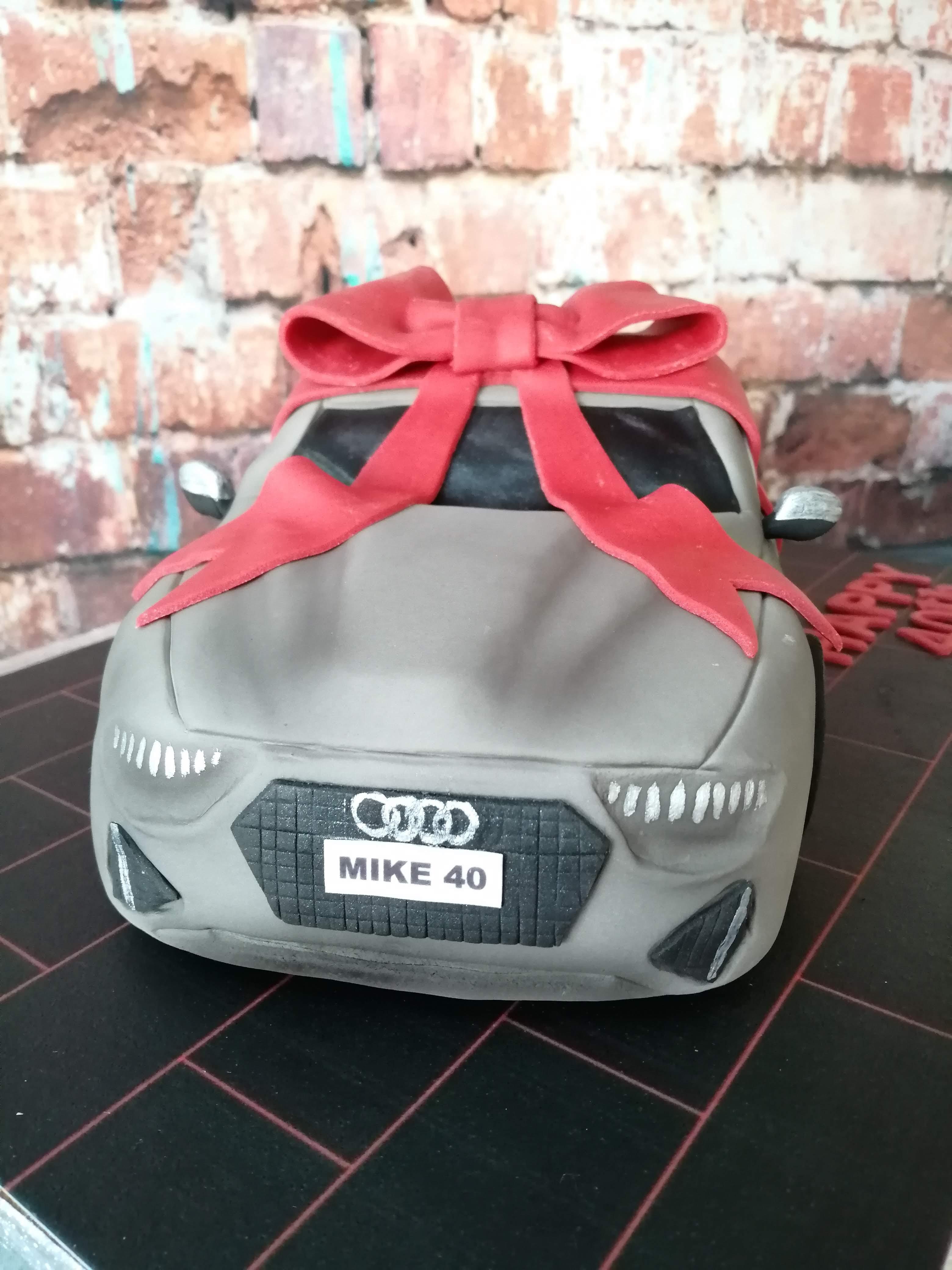 Audi car cake
