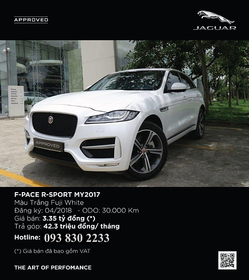 2018 F-PACE 3.0 V6 SUPERCHARGED R-SPORT 5 DOOR