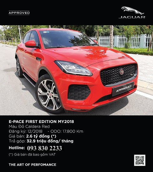 2018 E-PACE 2.0 I4 PETROL FIRST EDITION 5 DOOR