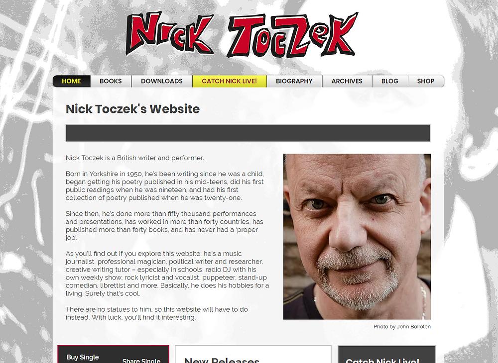 Nick Toczek new website, nicktoczek.com