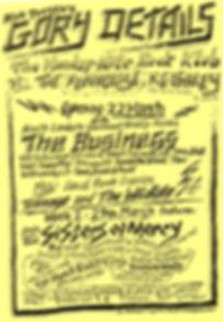 Nick Toczek's Gory Details flyer1