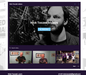 Nick Toczek video page n his new website