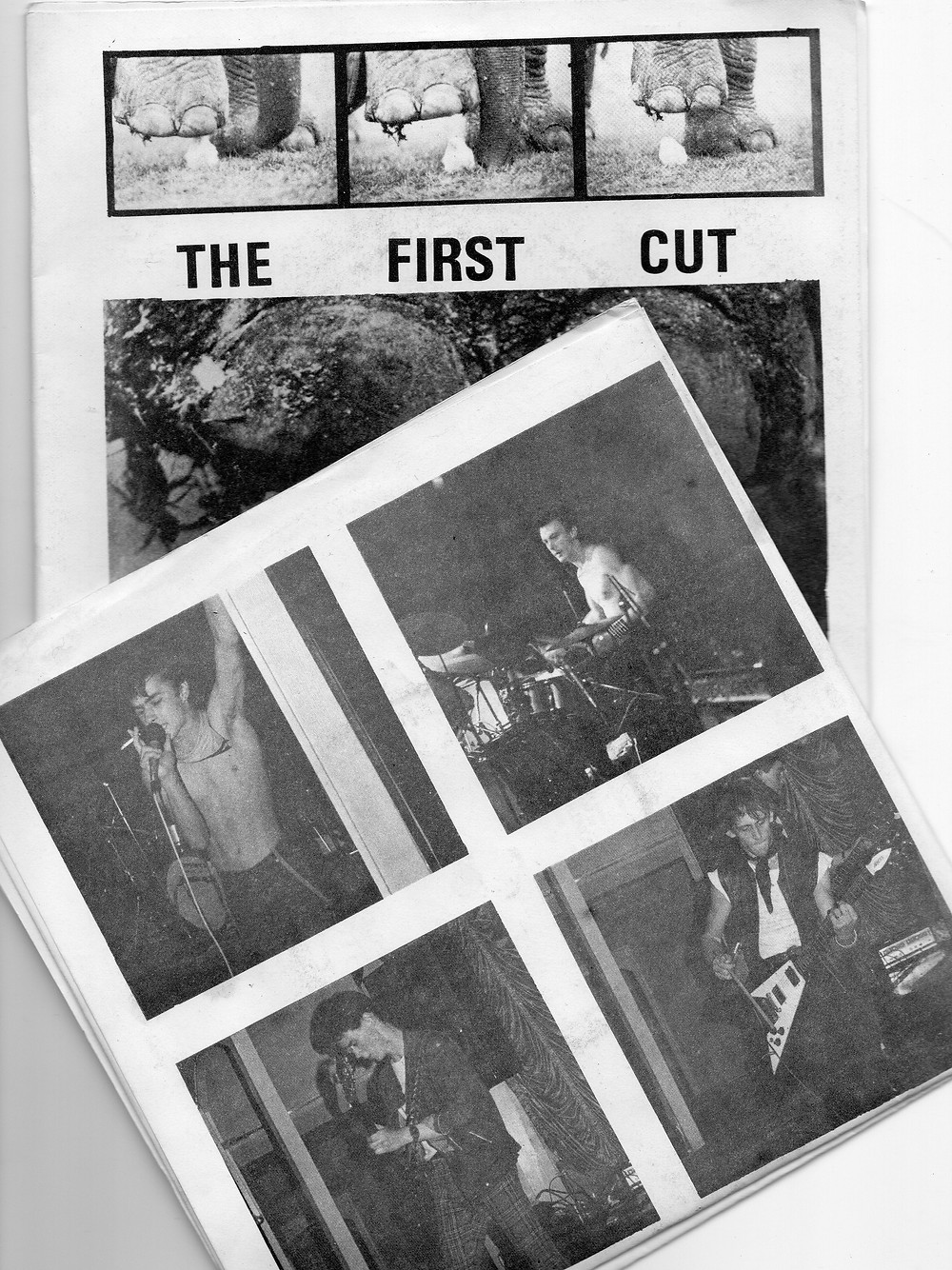 Front and back cover of the 1982 debut EP 'The First Cut' by To Be Continued[35845]