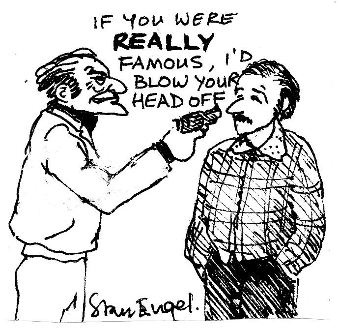 Stan Engel cartoon for unpublished Wool City Rocker No.15