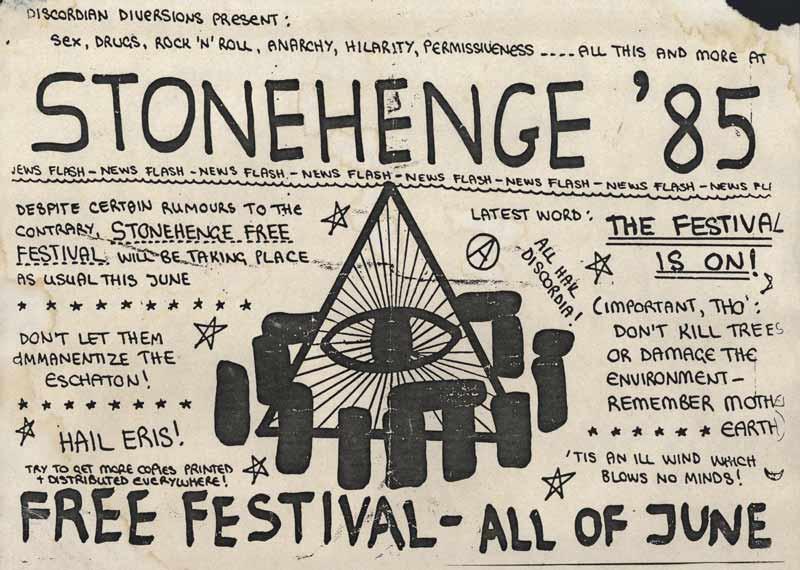 Stonehenge Festival 1985 flyer