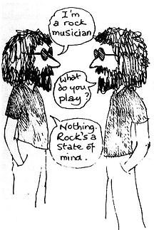 Stan Engel Wool City Rocker mind rock cartoon