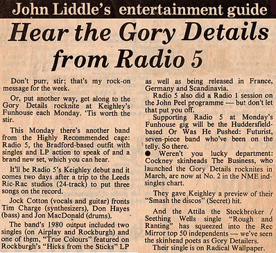 Radio 5, Keighley News - 23 April 1982