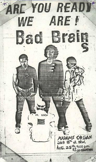 Bad Brains US flyer
