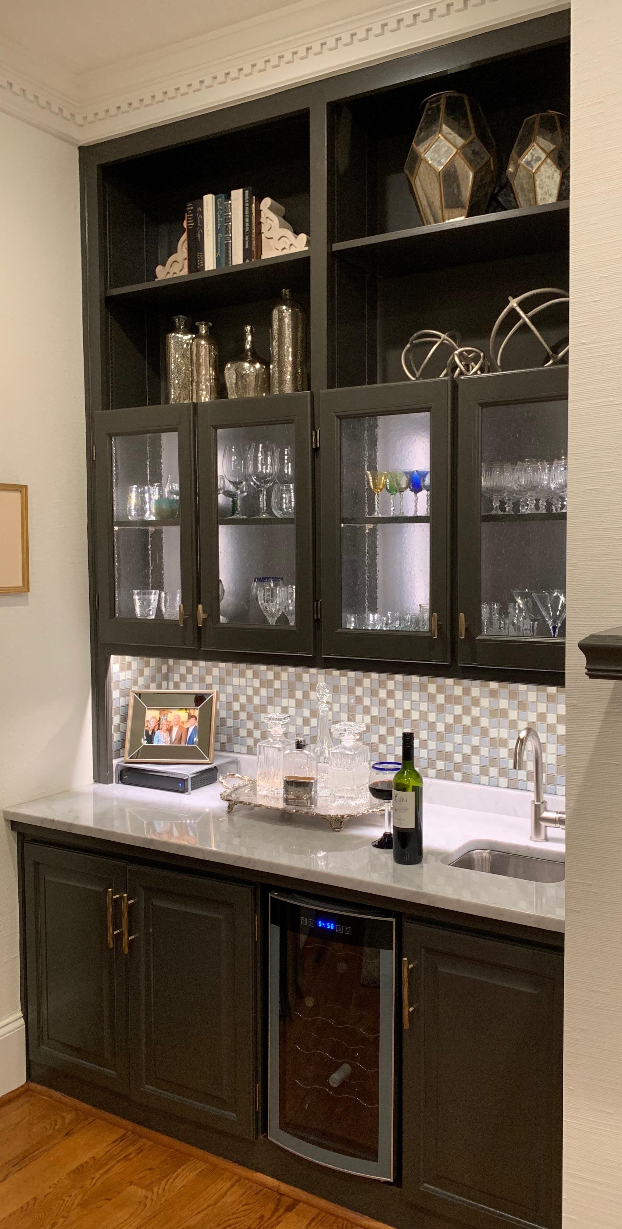 Wine Bar with Glass Doors
