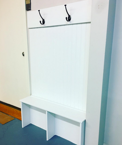 Small Space Mudroom Backpack Station