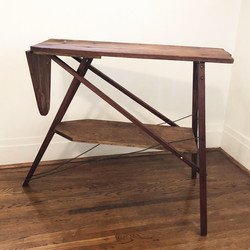 Vintage Ironing Board Side Table