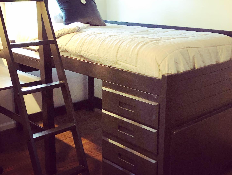 Repurposed Bunk Captain's Bed