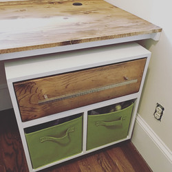 Rolling Storage in Sewing Room