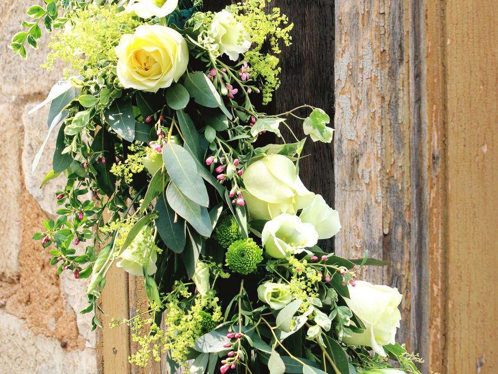 Summer wedding flower arrangement buds to bouquets