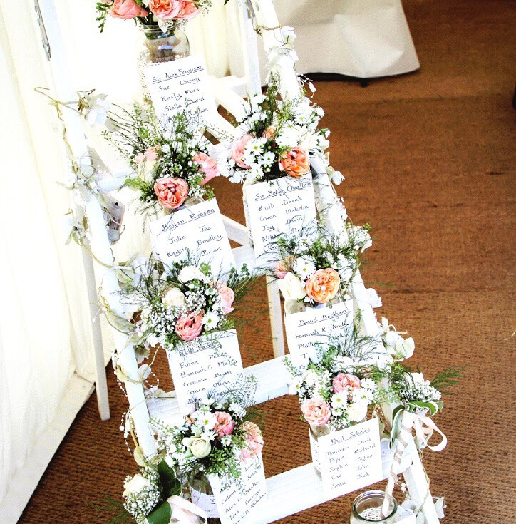 beautiful flowers detailing table seating plan by buds to bouquets