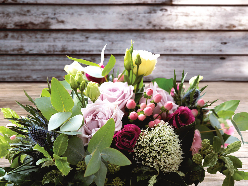 stunning roses and thistles bride bouquet by buds to bouquets