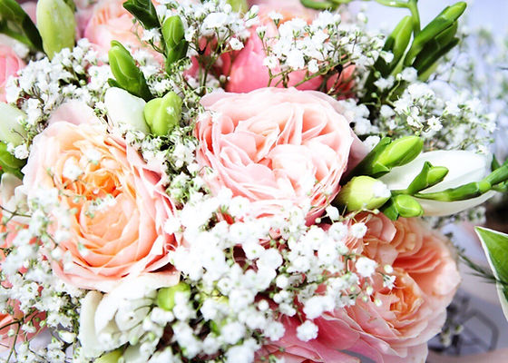 wedding spring bouquet by buds to bouquets soft colours very pretty