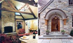 Donley Front Door & Interior of Kitchen