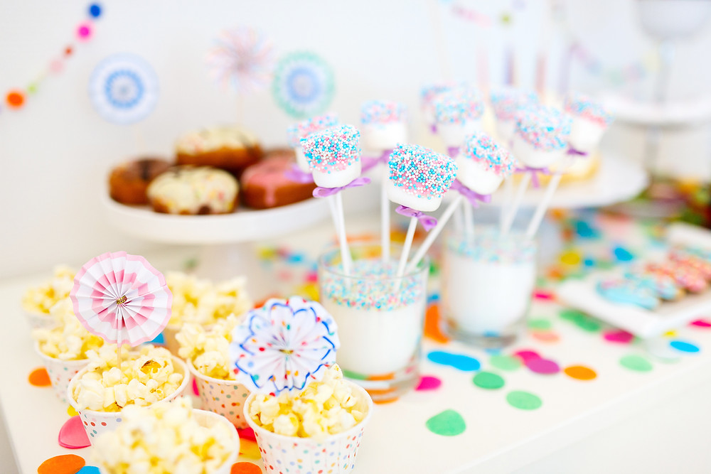 children's party food with amazing decorations