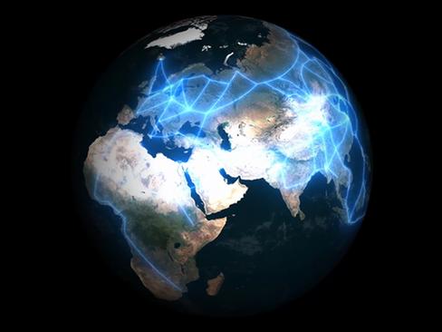 지구모형 맵핑 3D영상