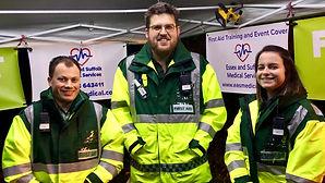 Three medics at an event.