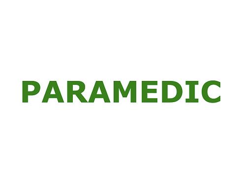 Paramedic Stickers
