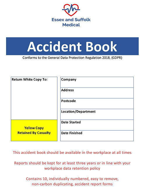 Workplace Accident Book