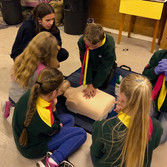 Scouts doing CPR