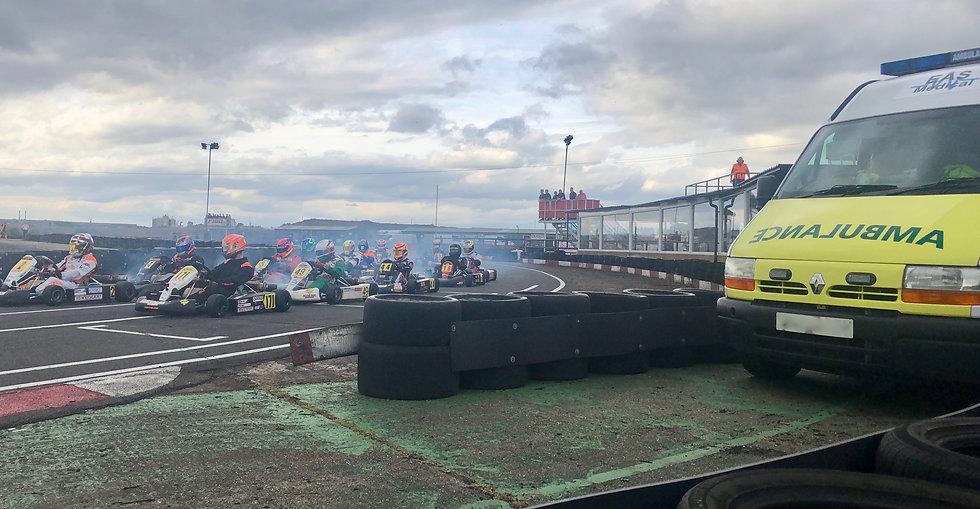 Ambulance at Karting Event