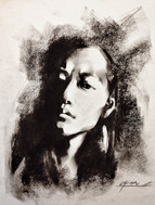 Self Portrait- Charcoal