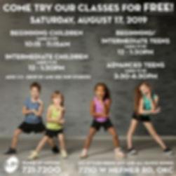 2019 Free Classes2019 Multiple kids Alt.