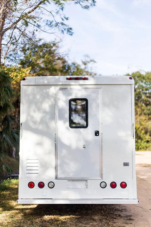 """72"""" X 36"""" Concession Door- RV Door With Screen"""