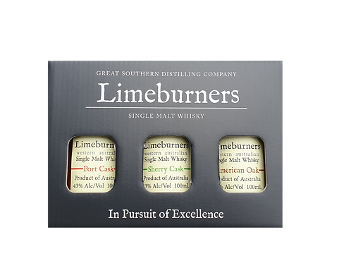 Limeburners Gift Pack - Port Cask, Sherry Cask, American Oak